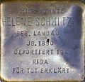 Stumbling block for Helene Schmitz (Severinswall 12)