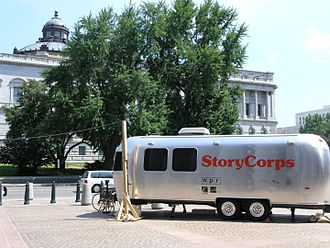 StoryCorps - A StoryCorps MobileBooth parked at the Library of Congress
