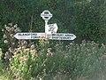 Stourpaine, Everley Hill signpost - geograph.org.uk - 1509676.jpg