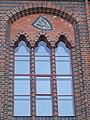 Stralsund, Germany, Rathaus, Fenster zum Markt mit Wappen Lübecks (2006-09-29).JPG