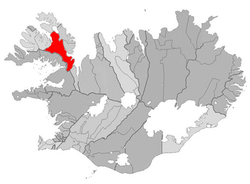 Location of the Municipality of Strandabyggð