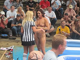 image Strip club contest during fantasy fest key west florida