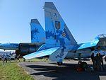 Su-27UBM1 of the Ukrainian Air Force on SIAF 2016.jpg