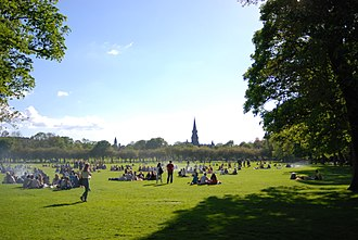 The Meadows (park) - Summer crowd in the Meadows, 2014