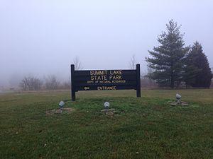 Summit Lake State Park - Image: Summit Lake State Park Sign