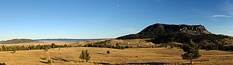 Sundance, Wyoming - Looking down on the town of Sundance from Moriah Hill, October 2014