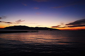 Bay of Vlorë - Image: Sunset over Bay of Vlora
