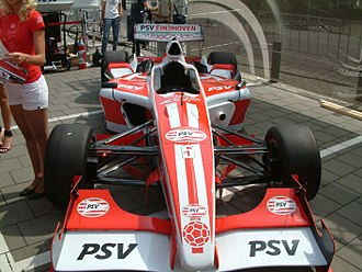 PSV Eindhoven (Superleague Formula team) - The PSV car is unveiled (2008)