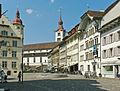 Sursee Rathaus, Kirche St. Georg, Haus Beck.jpg