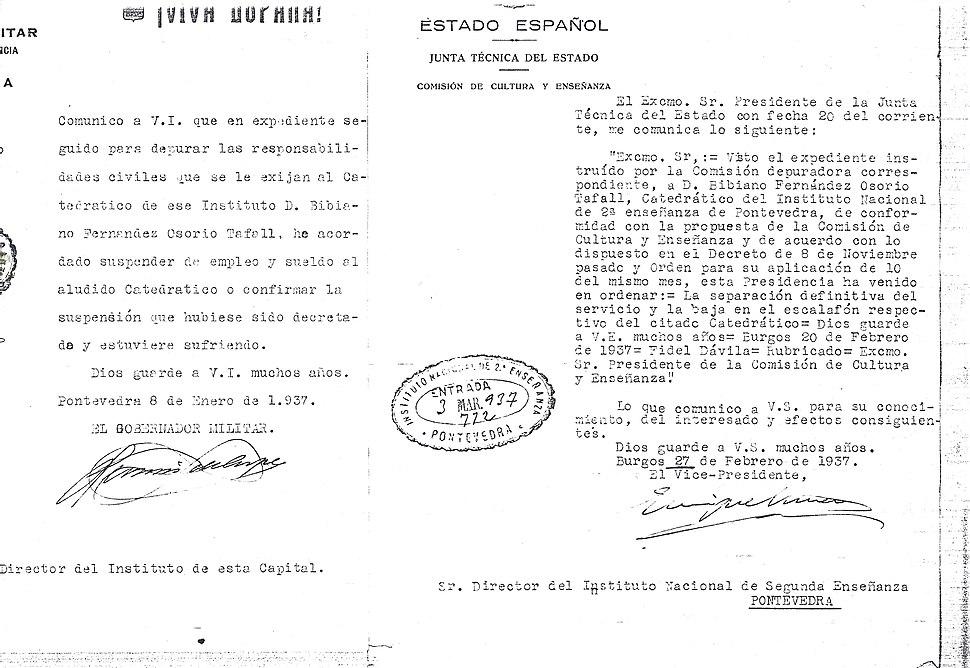 Suspensión Osorio-Tafall