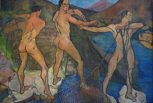 Suzanne Valadon - Casting of the Net, 1914, by Suzanne Valadon