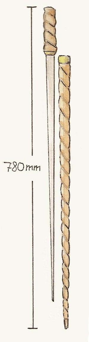 Swordstick - Illustration showing a swordstick
