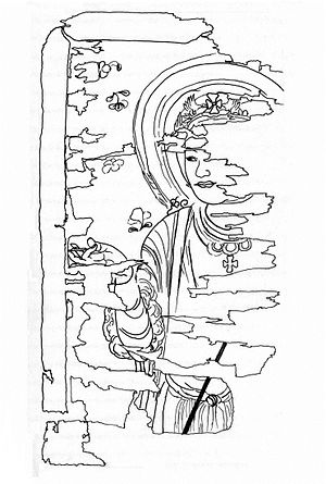Church of the East in China - Fragment of a Nestorian image of Jesus Christ found in Cave 17 at Mo-kao Caves, 9th-century.