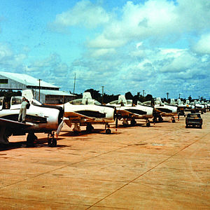 Operation Barrel Roll - North American T-28Ds in Laos.