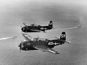 TBM-3Es VS-25 in flight c1950.jpeg