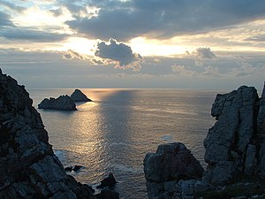 The Franklin's Tale - les Tas de Pais off the Pointe de Penhir in Camaret Brittany.