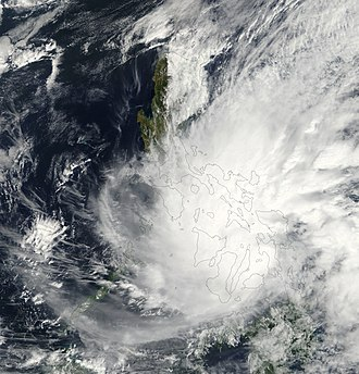 2001 Pacific typhoon season - Image: TD Auring 18 feb 2001 0250Z