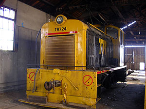New Zealand TR class locomotive - Image: TR724 stored