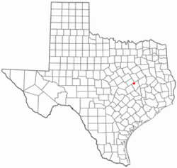 Location of Bremond, Texas