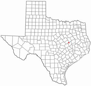 Bremond, Texas - Image: TX Map doton Bremond