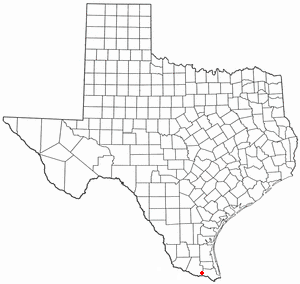 Mercedes, Texas - Image: TX Map doton Mercedes