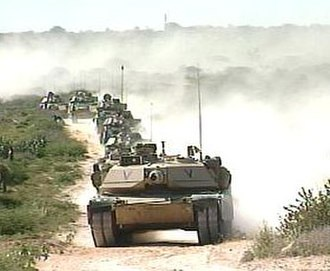 United Nations Operation in Somalia II - Image: Tanks Road 3a