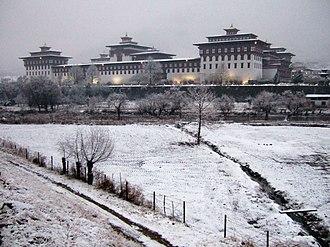 Tashichho Dzong - Image: Tashichödzong Thimphu 2008 01 23
