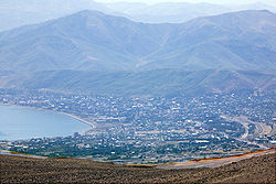 Overview of Tatvan from Nemrut-Dagi