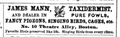 Taxidermist TheatreAlley BostonDirectory 1850.png