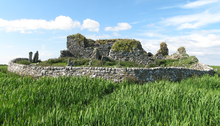 Photo of the ruins of a stone church