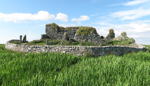 Amy of Garmoran - The ruins of Teampull na Trionaid, or Trinity Church, which was re-built by Amie in the later part of her life