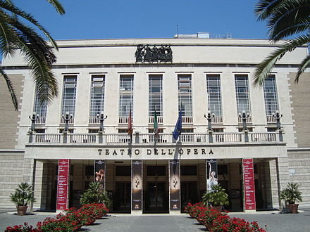 The Teatro dell'Opera di Roma at the Piazza Beniamino Gigli