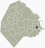 Location of San Telmo within Buenos Aires