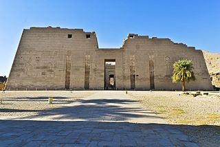 Medinet Habu (location) ancient Egyptian temple