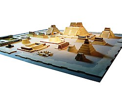 Modell des Tempelviertels von Tenochtitlan im National Museum of Anthropology