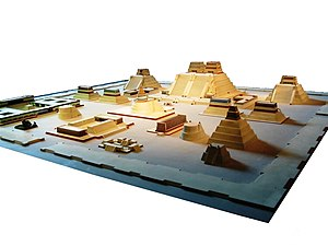 Tenochtitlan - Model of the temple district of Tenochtitlan at the National Museum of Anthropology