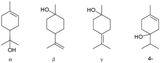 Terpineol family of chemical compounds