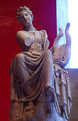 Terpsichore - Roman statue of Terpsichore from Hadrian's Villa, presently at the Prado Museum (Madrid).