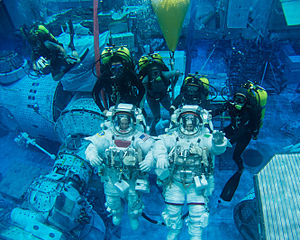 Terry Virts and Samantha Cristoforetti spacewalk training.jpg