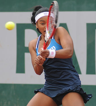 Tessah Andrianjafitrimo - Andrianjafitrimo at the 2014 French Open