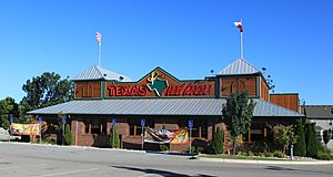 English: Texas Roadhouse restaurant, 36750 For...