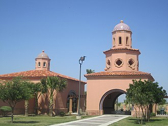 Webb County, Texas - The Texas tourism travel station is located at the intersection of Interstate 35 and U.S. Route 83 north of Laredo.