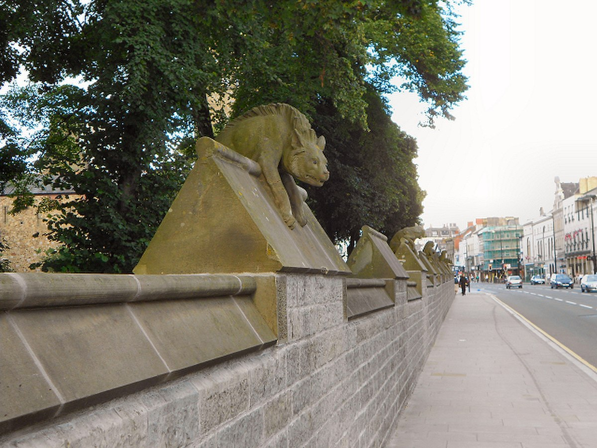 Animal Wall, and Gates near Clock Tower