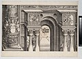 The Arch in the Entryway of the Right Portal (Die Porten des Adels); and the Outer Right Column of the Central Portal, from The Triumphal Arch of Maximilian I, 1st edition (1517-18) MET DP-16116-036.jpg