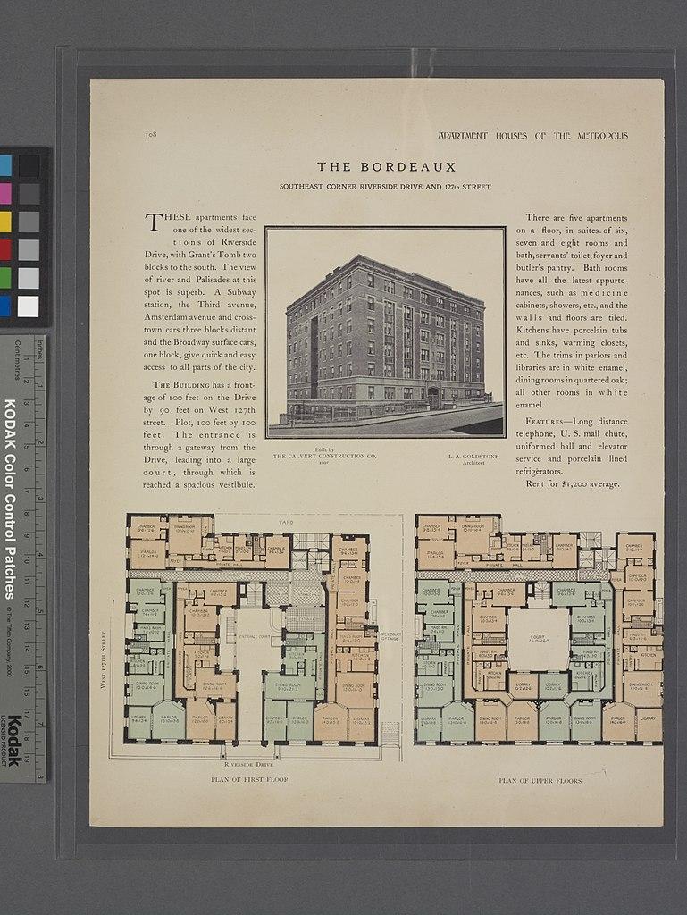 Filethe Bordeaux Southeast Corner Riverside Drive And 127th Street Schematic Diagram 7230 5428 Pixels