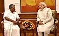 The Chief Minister of Kerala, Shri Pinarayi Vijayan calling on the Prime Minister, Shri Narendra Modi, in New Delhi on May 28, 2016 (1).jpg