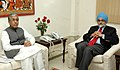 The Chief Minister of Tripura, Shri Manik Sarkar meeting with the Deputy Chairman Planning Commission, Shri Montek Singh Ahluwalia to finalize Annual Plan 2007-08 of the State, in New Delhi on January 16, 2007.jpg