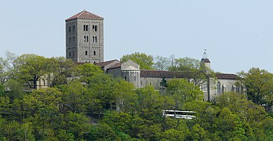 The Cloisters from the Hudson River The Cloisters Hudson River crop.jpg