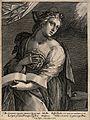 The Delphic sibyl. Engraving by C. de Passe I. Wellcome V0035887.jpg