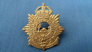 31 Combat Engineer Regiment (The Elgins) - Cap badge of the Elgin Regiment from World War I